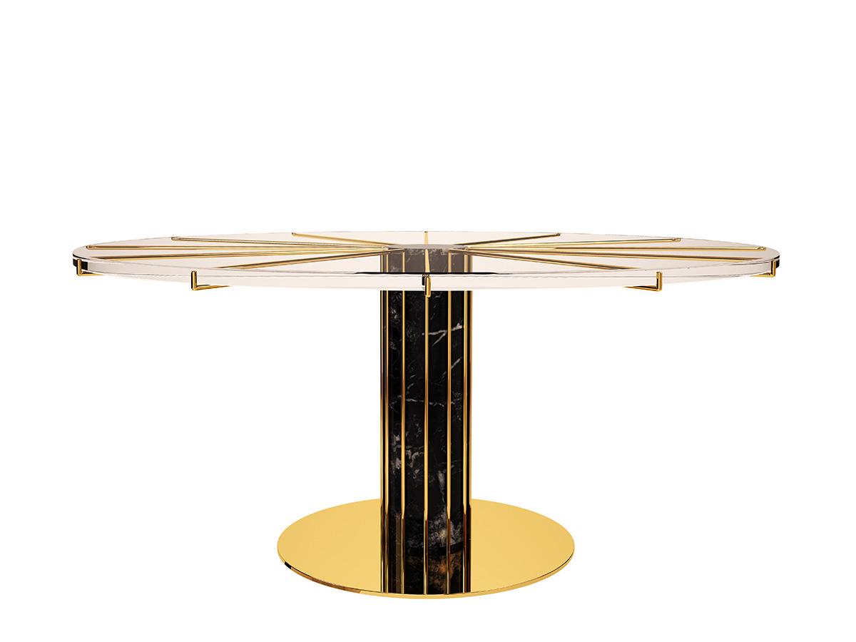 dandelion-luxury-contemporary-dining-table-clear-glass-polished-brass-marble-byswans-1