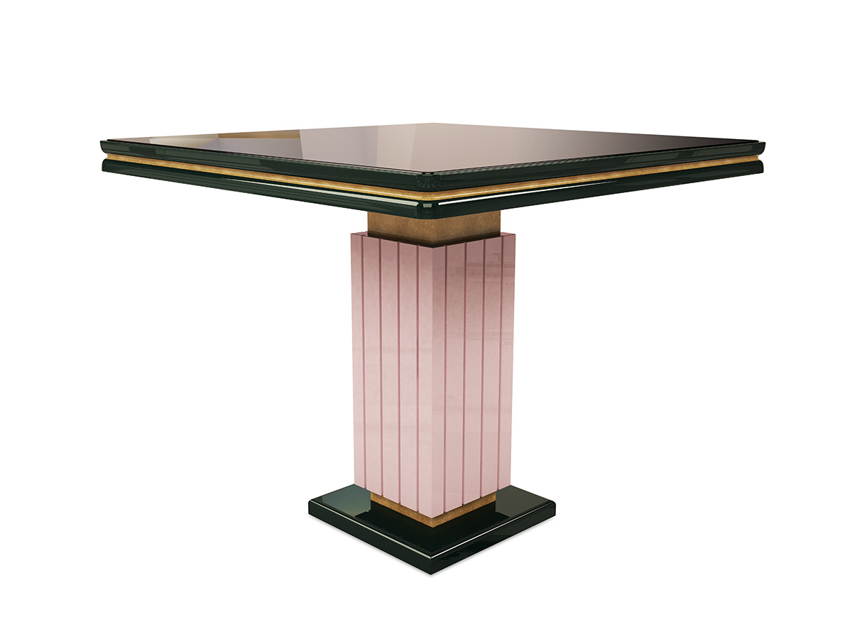 Jennifer Small Dining Table from BySwans : jenniferi contemporary small dining table for restaurants lounges pink dark green lacquered wood byswans 2 from byswans.com size 1200 x 900 jpeg 83kB